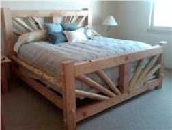 Timber and Log Mix King bed