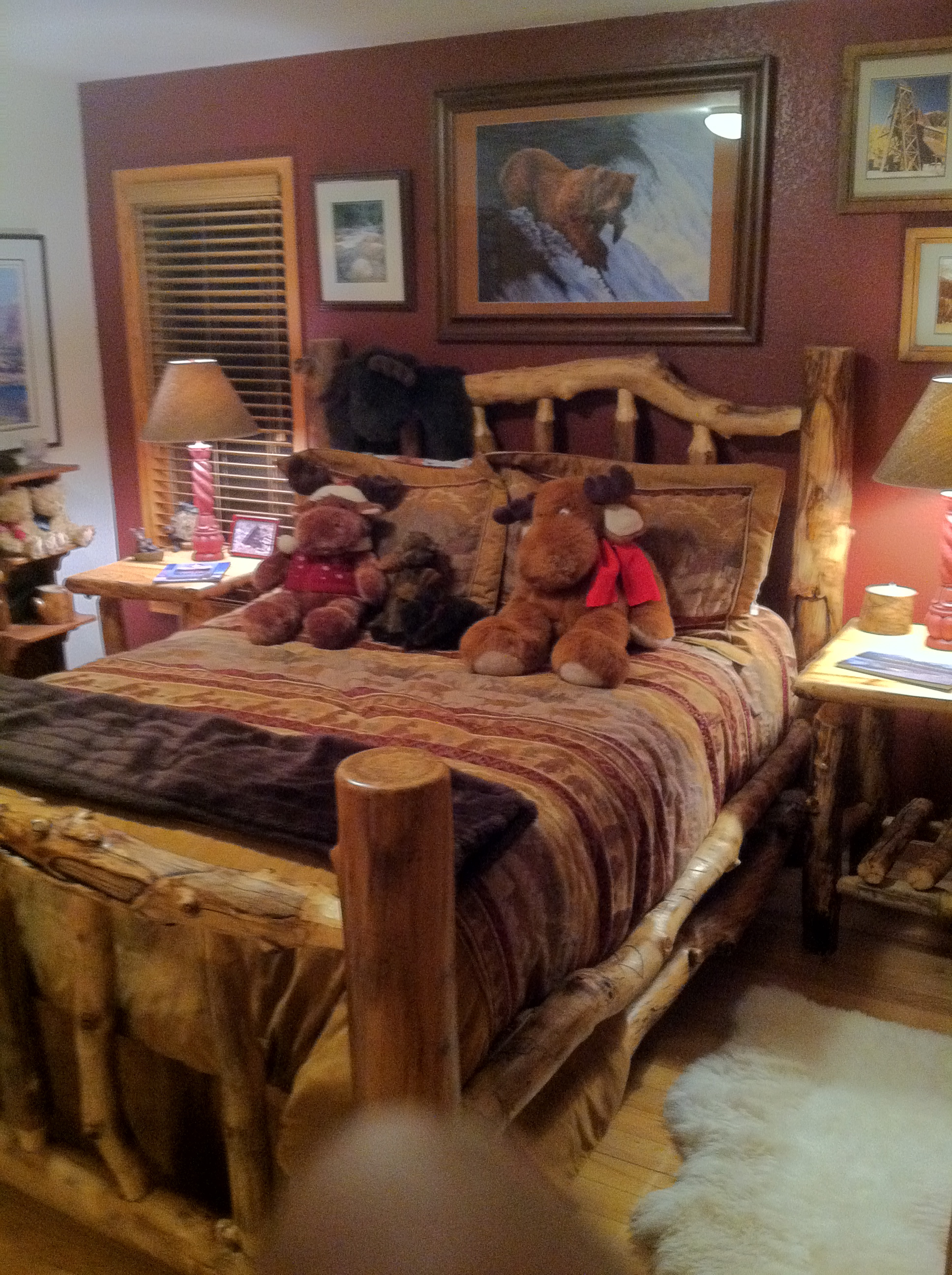 Flagstaff Aspen Queen Log Bed