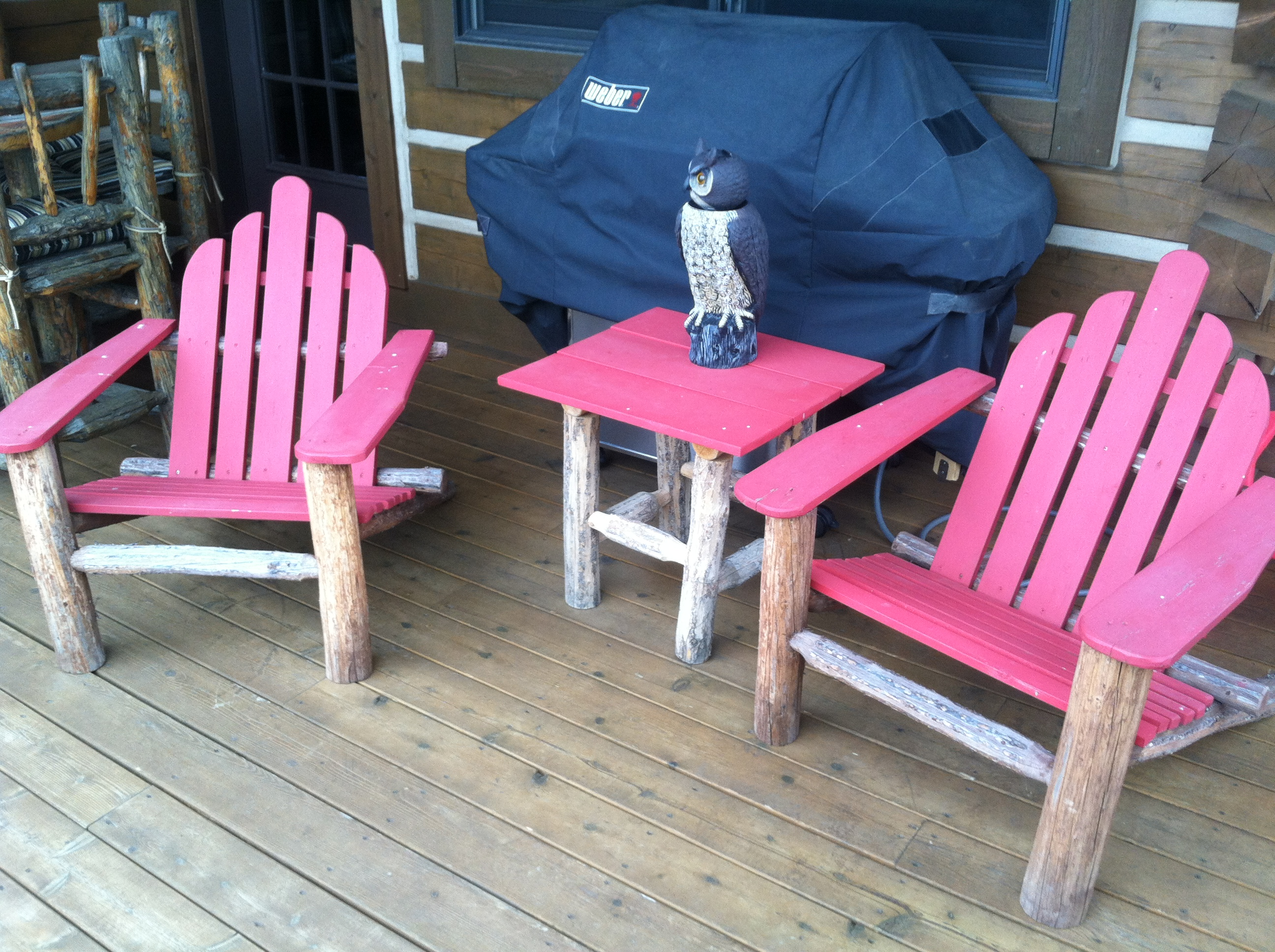 Adirondack deck chairs