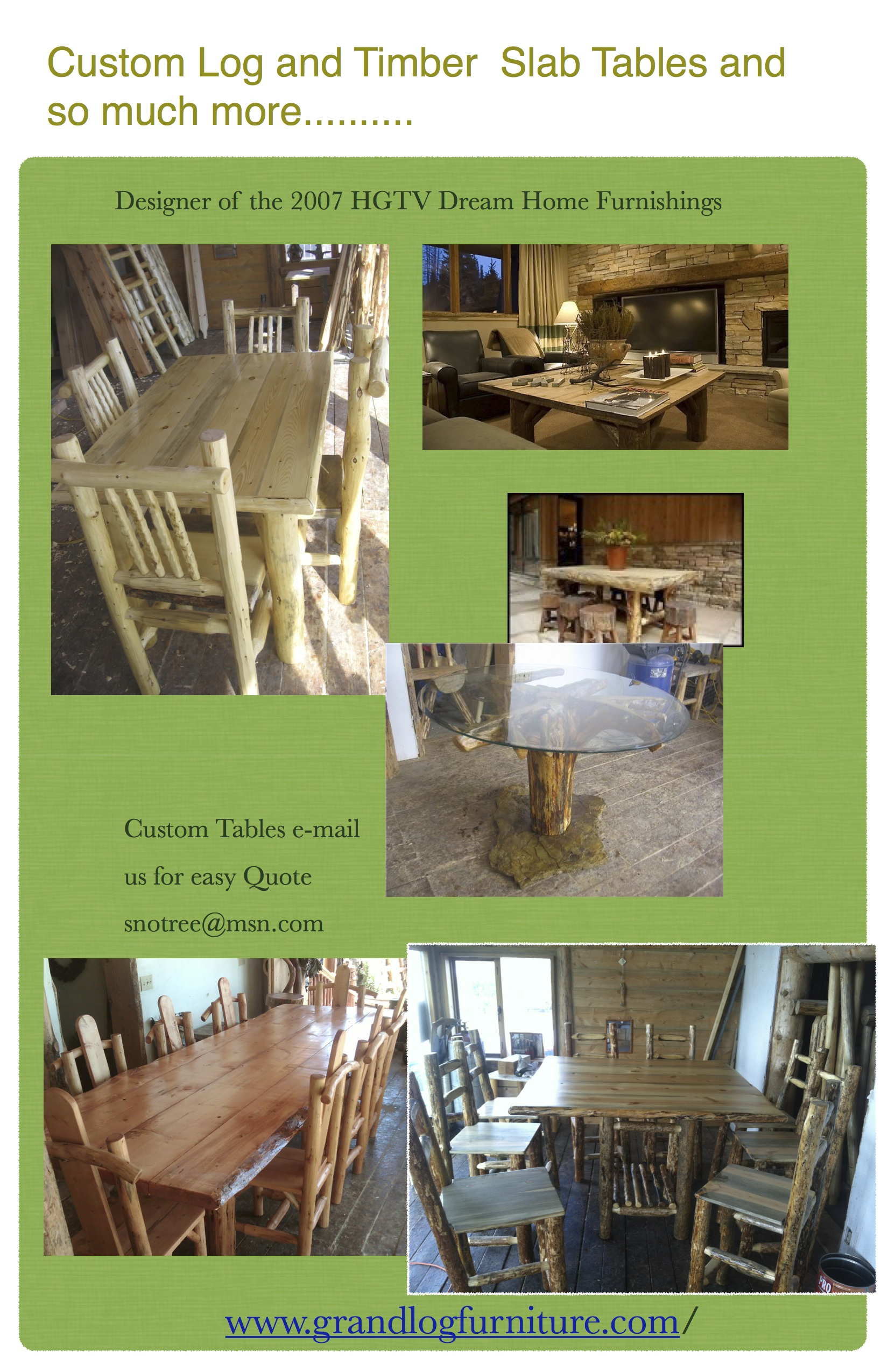 Log Or  Timber Tables