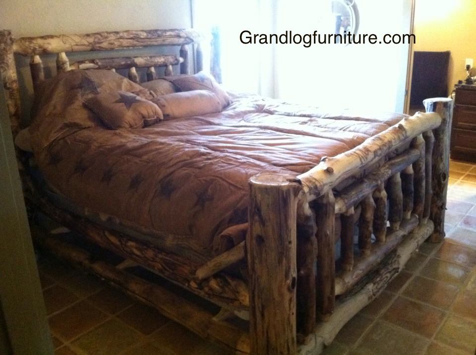 King Aspen Log Bed…...