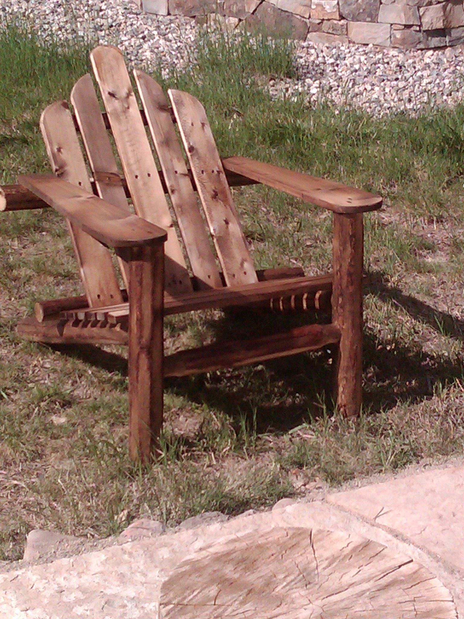 pine Adirondack lake chair